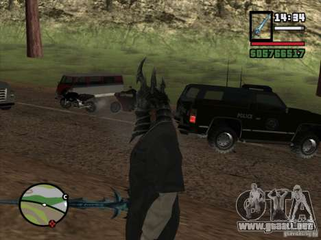 Casco Ner Zula para GTA San Andreas tercera pantalla