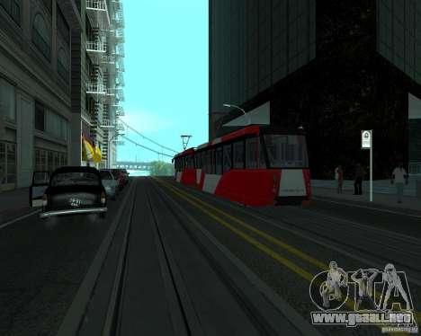 LM-2008 para GTA San Andreas vista posterior izquierda
