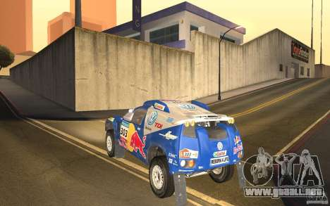 Volkswagen Race Touareg para GTA San Andreas vista posterior izquierda
