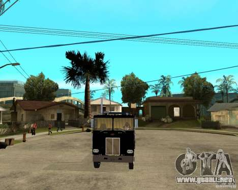 Peterbilt para GTA San Andreas vista hacia atrás