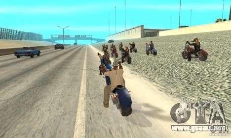 BikersInSa (los moteros en SAN ANDREAS) para GTA San Andreas