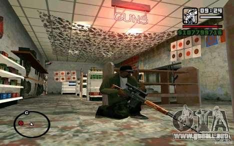 Dragunov sniper rifle v 1.0 para GTA San Andreas tercera pantalla