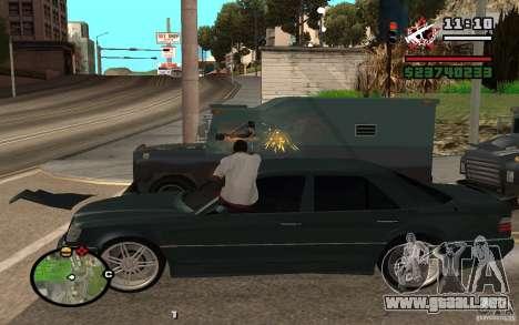 Disparar fuera del auto en GTA 4 para GTA San Andreas