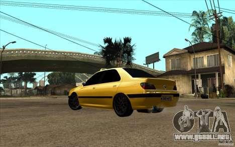 Peugeot 406 Taxi para GTA San Andreas vista posterior izquierda