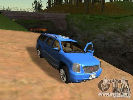 GMC Yukon Denali XL para la vista superior GTA San Andreas