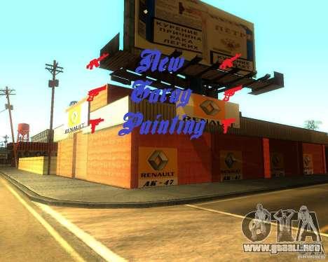 New Garage Painting para GTA San Andreas