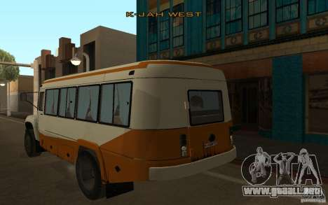 Kavz 3976 KAVZOZIL para GTA San Andreas vista posterior izquierda
