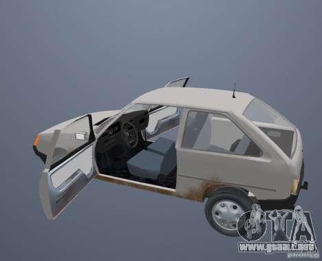 ZAZ Tavria 1102 para la vista superior GTA San Andreas