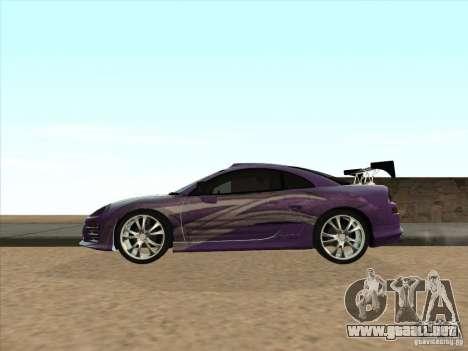 Mitsubishi Eclipse Spyder 2FAST2FURIOUS para GTA San Andreas left