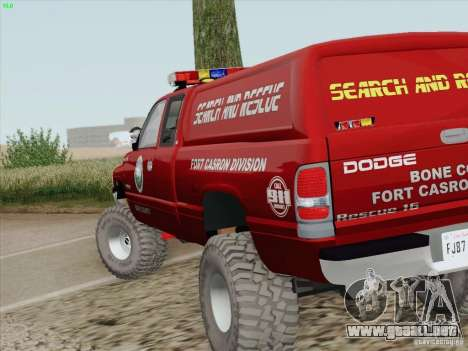 Dodge Ram 3500 Search & Rescue para la vista superior GTA San Andreas