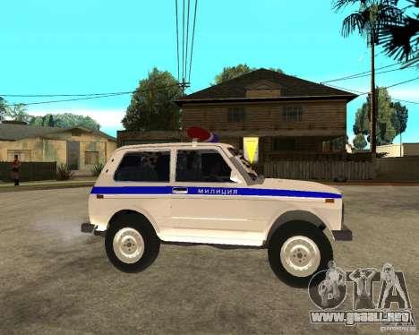 VAZ 2121 policía para la visión correcta GTA San Andreas