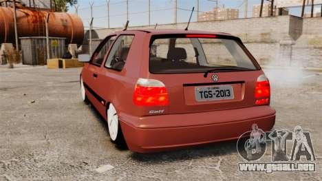 Volkswagen Golf MK3 Turbo para GTA 4 Vista posterior izquierda