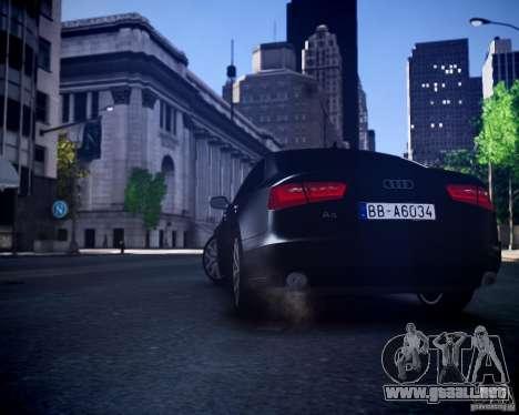 Audi A6 2012 para GTA 4 vista hacia atrás