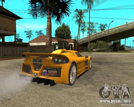 Gumpert Appolo para GTA San Andreas vista posterior izquierda