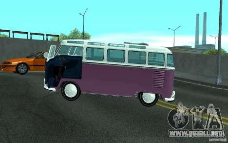 Volkswagen Transporter T1 SAMBAQ CAMPERVAN para el motor de GTA San Andreas