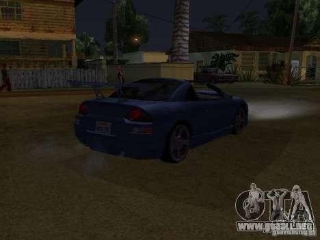 Mitsubishi Spyder para GTA San Andreas vista posterior izquierda
