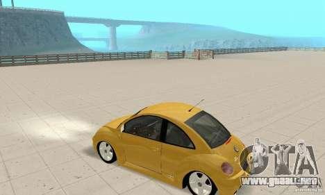 Volkswagen New Beetle GTi 1.8 Turbo para GTA San Andreas vista hacia atrás