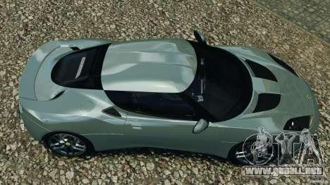 Lotus Evora 2009 v1.0 para GTA 4 visión correcta