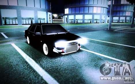 VAZ 21099 Turbo para la visión correcta GTA San Andreas