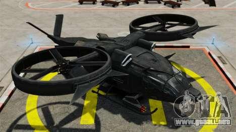 Helicóptero de transporte SA-2 Samson para GTA 4 vista hacia atrás