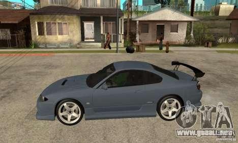 Nissan Silvia S15 Tun para GTA San Andreas vista posterior izquierda