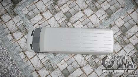 Mercedes Benz Sprinter Long Version para GTA 4 visión correcta