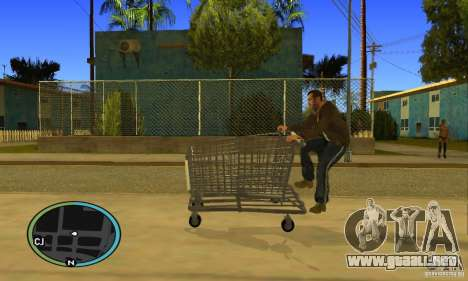 Shopping Cart Faggio V2 para la visión correcta GTA San Andreas