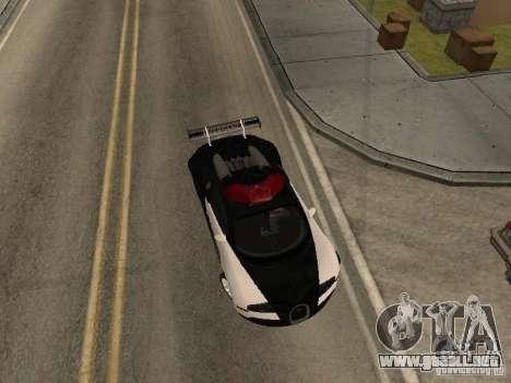 Bugatti Veyron Police para GTA San Andreas vista posterior izquierda