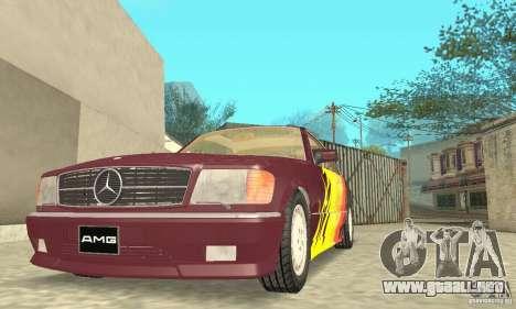 Mercedes-Benz W126 560SEC para las ruedas de GTA San Andreas