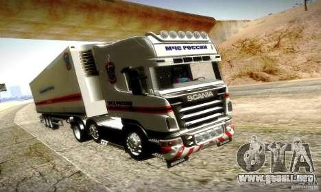 Scania R620 Emercom de Rusia para la vista superior GTA San Andreas