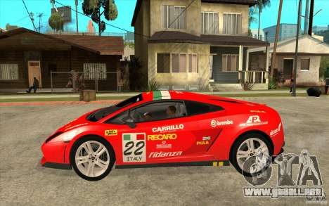 Lamborghini Gallardo LP560 para GTA San Andreas left