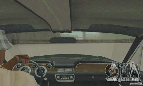 Ford Mustang Bullitt 1968 v.2 para GTA San Andreas vista hacia atrás