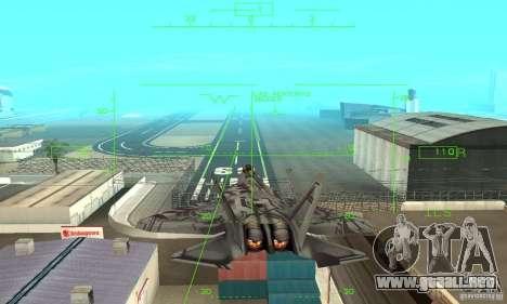 YF-22 Starscream para vista lateral GTA San Andreas