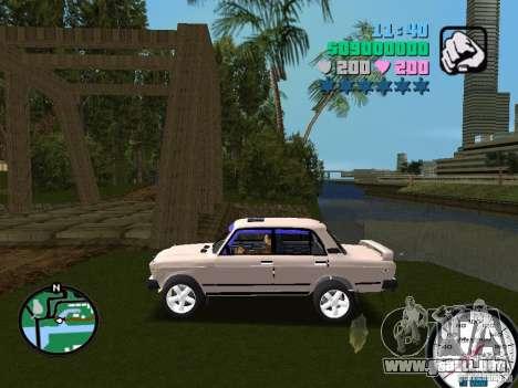 VAZ 2107 para GTA Vice City left