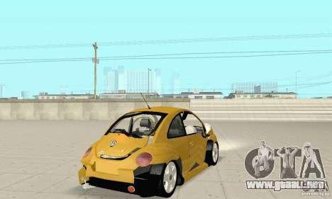 Volkswagen New Beetle GTi 1.8 Turbo para la vista superior GTA San Andreas