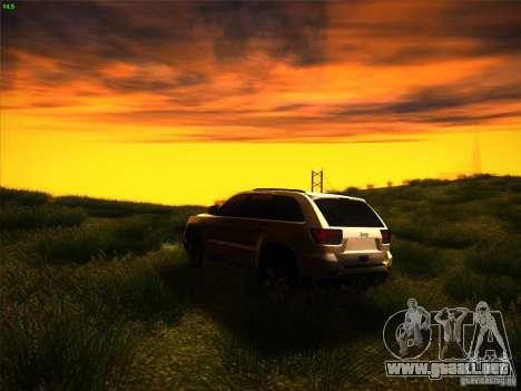 Jeep Grand Cherokee 2012 v2.0 para GTA San Andreas vista posterior izquierda