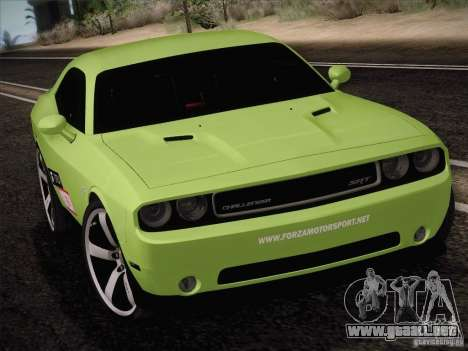 Dodge Challenger SRT8 2010 para GTA San Andreas left