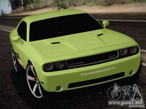 Dodge Challenger SRT8 2010 para GTA San Andreas left