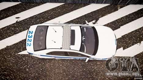 Honda Accord Type R NYPD (City Patrol 2322) ELS para GTA 4 visión correcta
