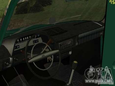 IZH 2715 para GTA San Andreas vista hacia atrás