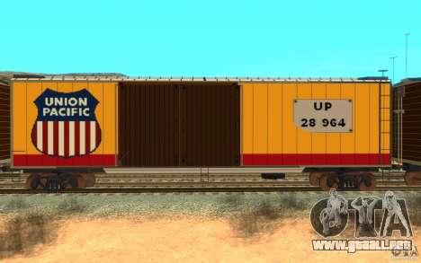 Union Pacific Reefer para GTA San Andreas vista posterior izquierda