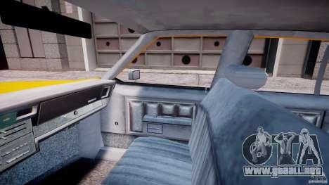 Chevrolet Impala Taxi 1983 [Final] para GTA 4 vista interior