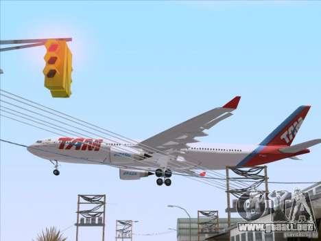 Airbus A330-223 TAM Airlines para GTA San Andreas vista hacia atrás