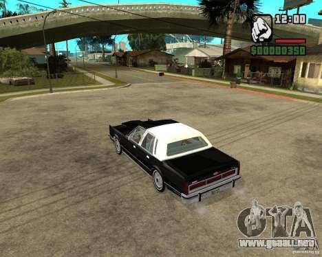 Lincoln Town Car 1986 para GTA San Andreas vista posterior izquierda