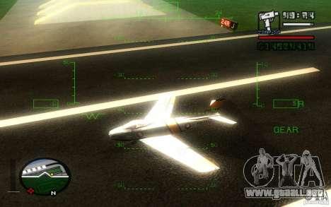 F 86 Sabre para la visión correcta GTA San Andreas
