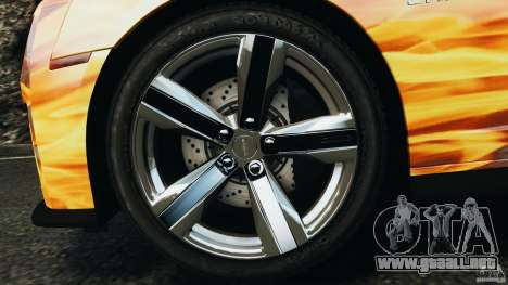 Chevrolet Camaro ZL1 2012 v1.0 Flames para GTA 4 vista desde abajo