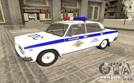 Coche de policía VAZ 2107 DPS para GTA San Andreas