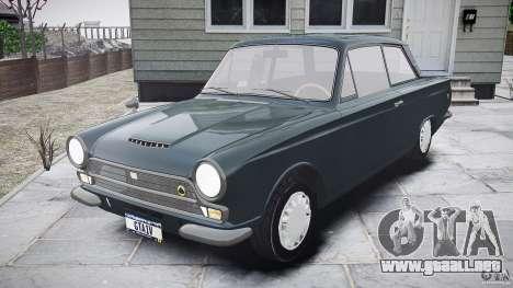 Lotus Cortina S 1963 para GTA 4 vista lateral