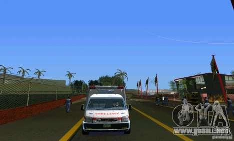 RTW Ambulance para GTA Vice City visión correcta