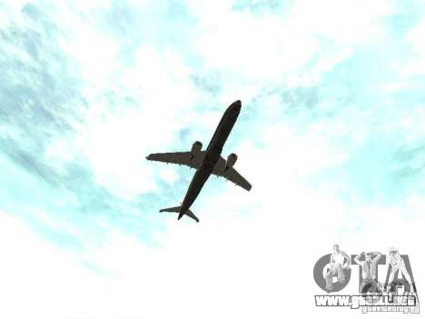 Embraer E-190 para vista lateral GTA San Andreas